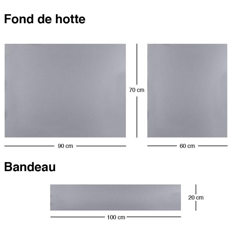 Cr dence de cuisine adh sive en aluminium gris m tallis for Credence alu adhesive