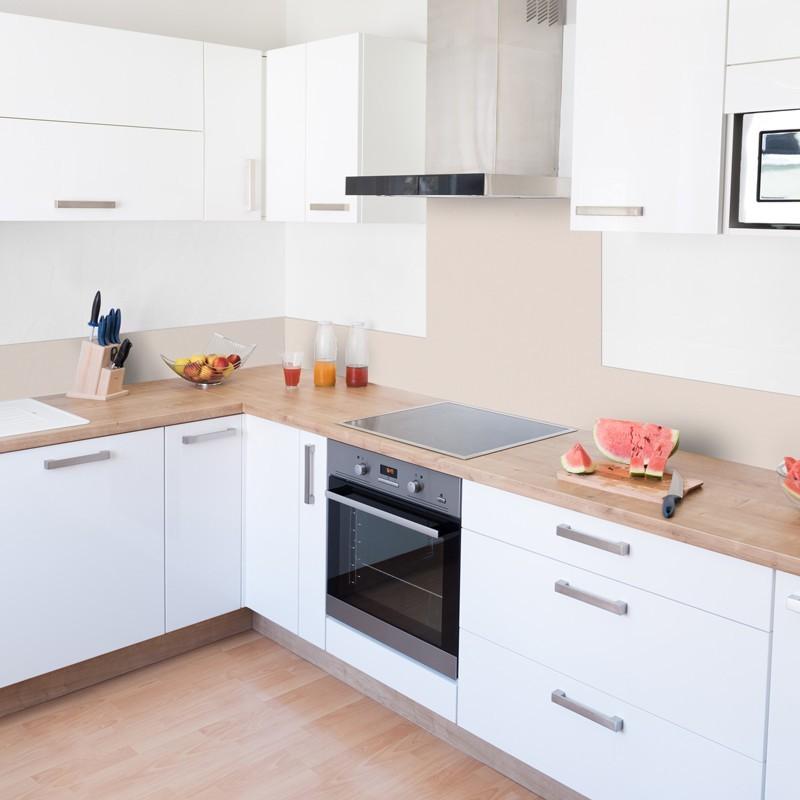 cr dence de cuisine adh sive en aluminium beige sable. Black Bedroom Furniture Sets. Home Design Ideas