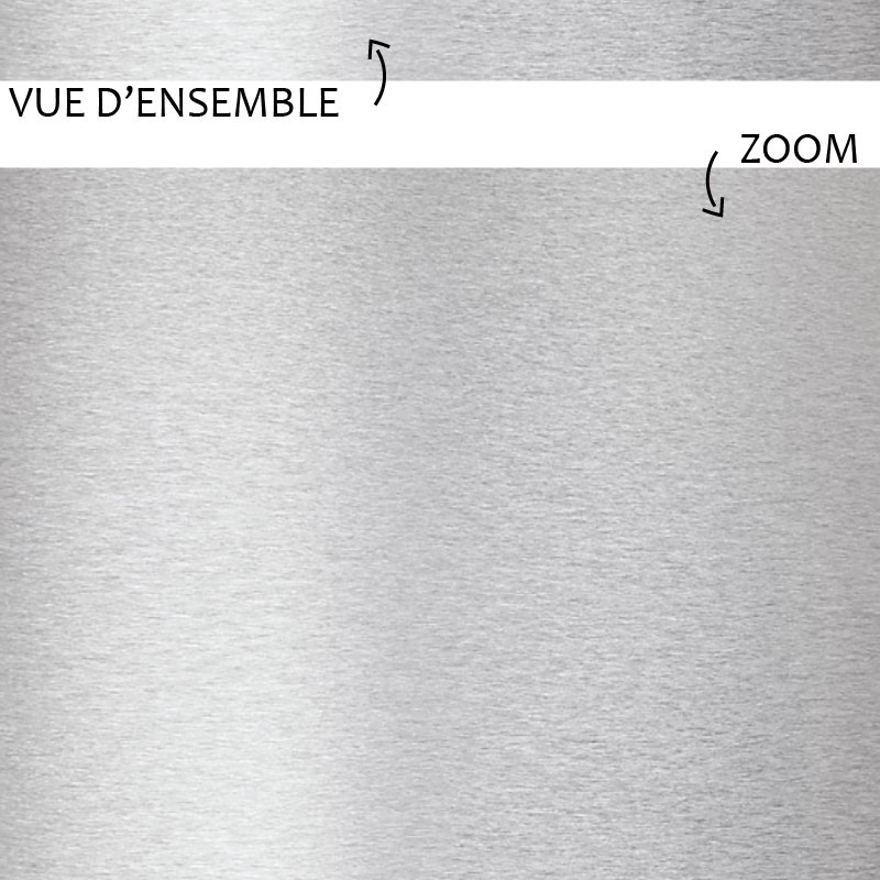 Vue d'ensemble et zoom sur la plinthe Alu de chez 99déco