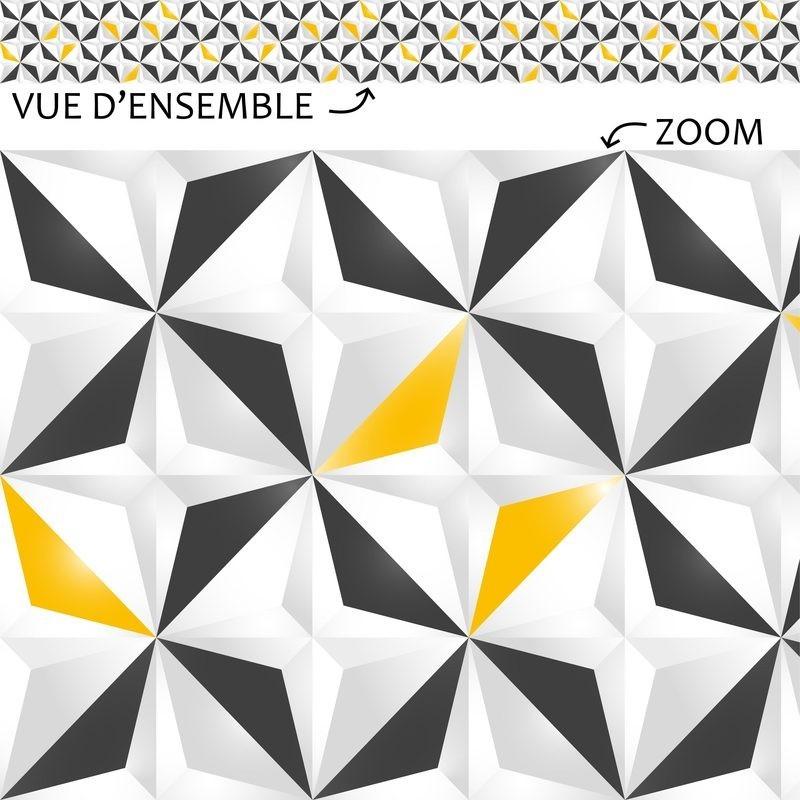 Plinthe Décorative En PVC Facile à Découper Et à Poser Motif - Plinthe carrelage et tapis graphique jaune