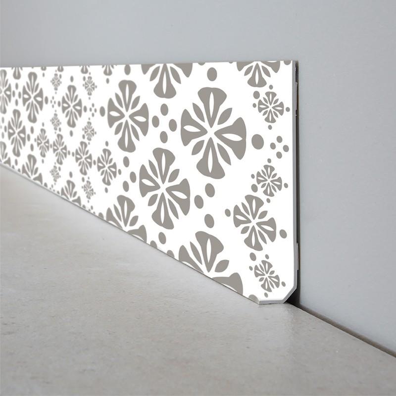 Plinthe Décorative En PVC Facile à Découper Et à Poser Motif - Plinthe carrelage et tapis flower