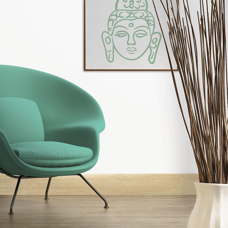 """Pour une déco salon tendance et naturelle : la plinthe imitation chêne naturel """"Ma Plinthe Déco"""""""