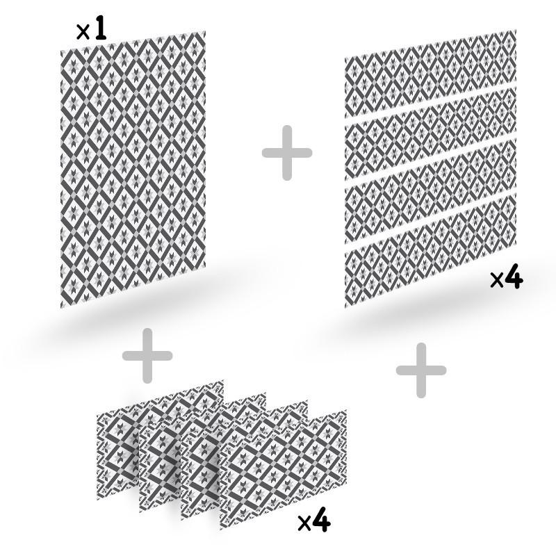 promotion cr dence imitation carreaux de ciment sets de table assortis 99 d co. Black Bedroom Furniture Sets. Home Design Ideas