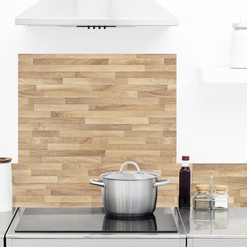 cr dence de cuisine en aluminium facile poser effet bois scandinave 99 d co. Black Bedroom Furniture Sets. Home Design Ideas