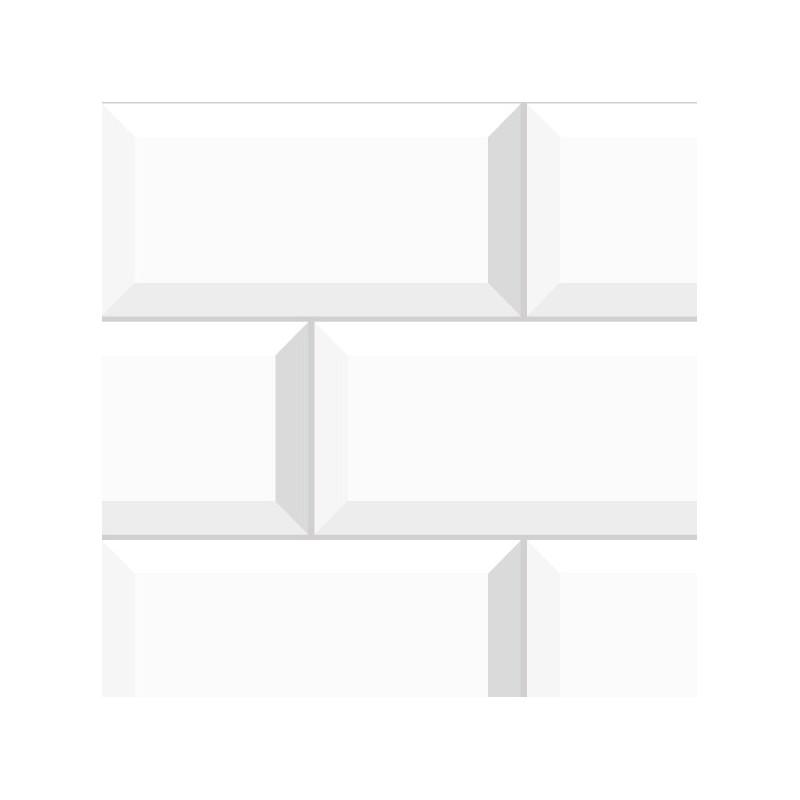 cr dence de salle de bains adh sive en pvc effet carrelage m tro parisien 99 d co. Black Bedroom Furniture Sets. Home Design Ideas