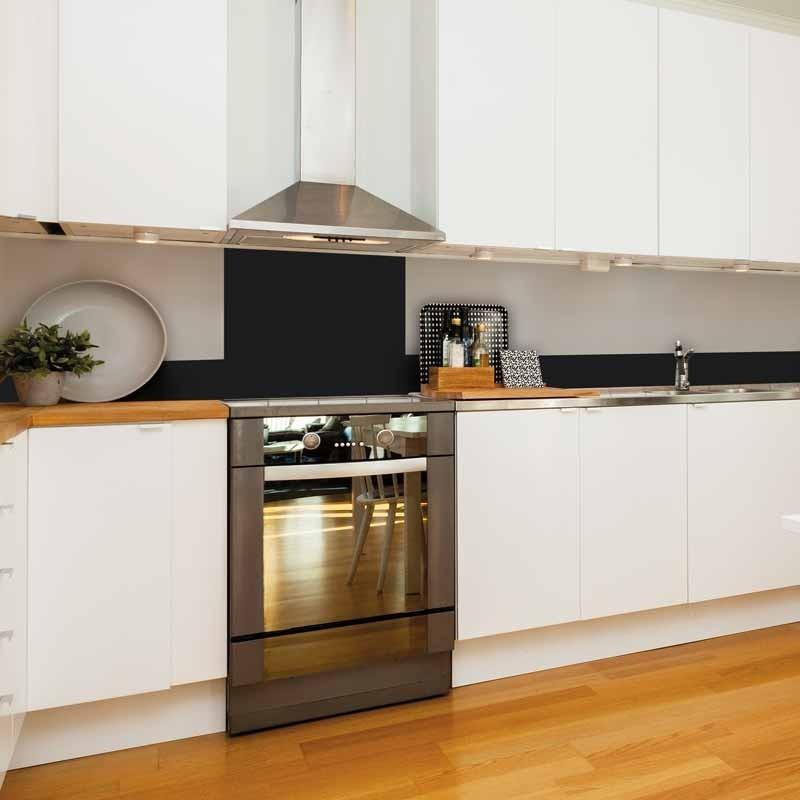 Cr dence de cuisine adh sive en aluminium noire 99 d co for Credence aluminium adhesive