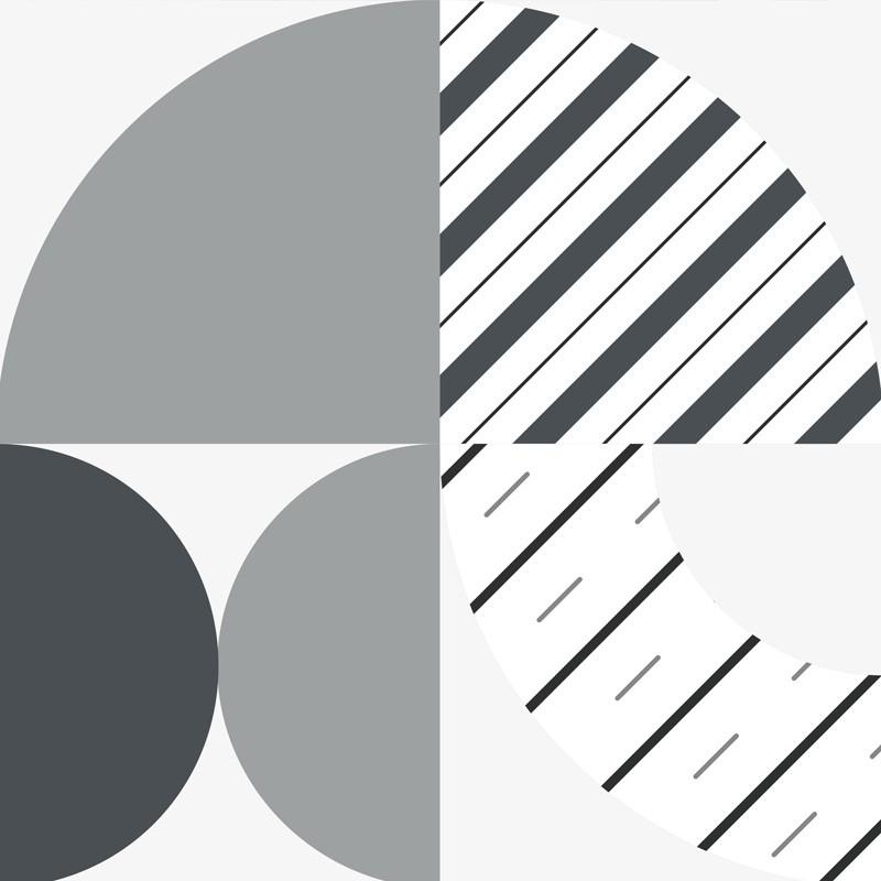 Des motifs géométriques et des nuances de gris pour un modèle de crédence cuisine original